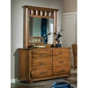 Timberline Saddle Brown Dresser and Mirror Set - AW-7400-260-7400-040