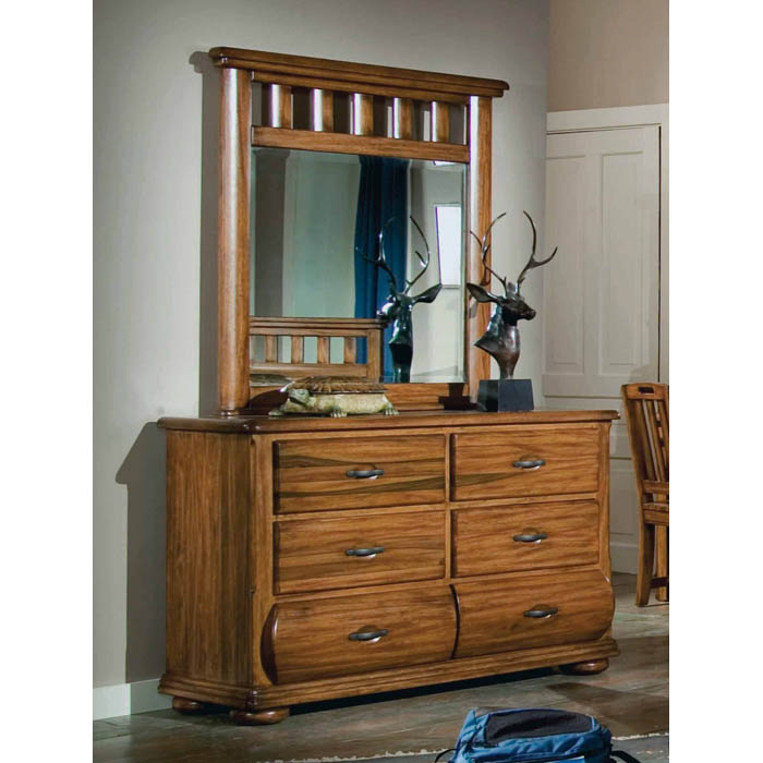 Timberline Saddle Brown Dresser and Mirror Set