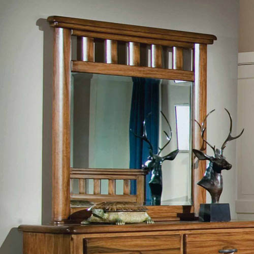 Timberline Dressing Mirror in Saddle Brown
