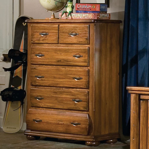 Timberline 5-Drawer Chest in Saddle Brown