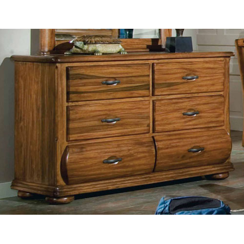 Timberline Saddle Brown Double Dresser