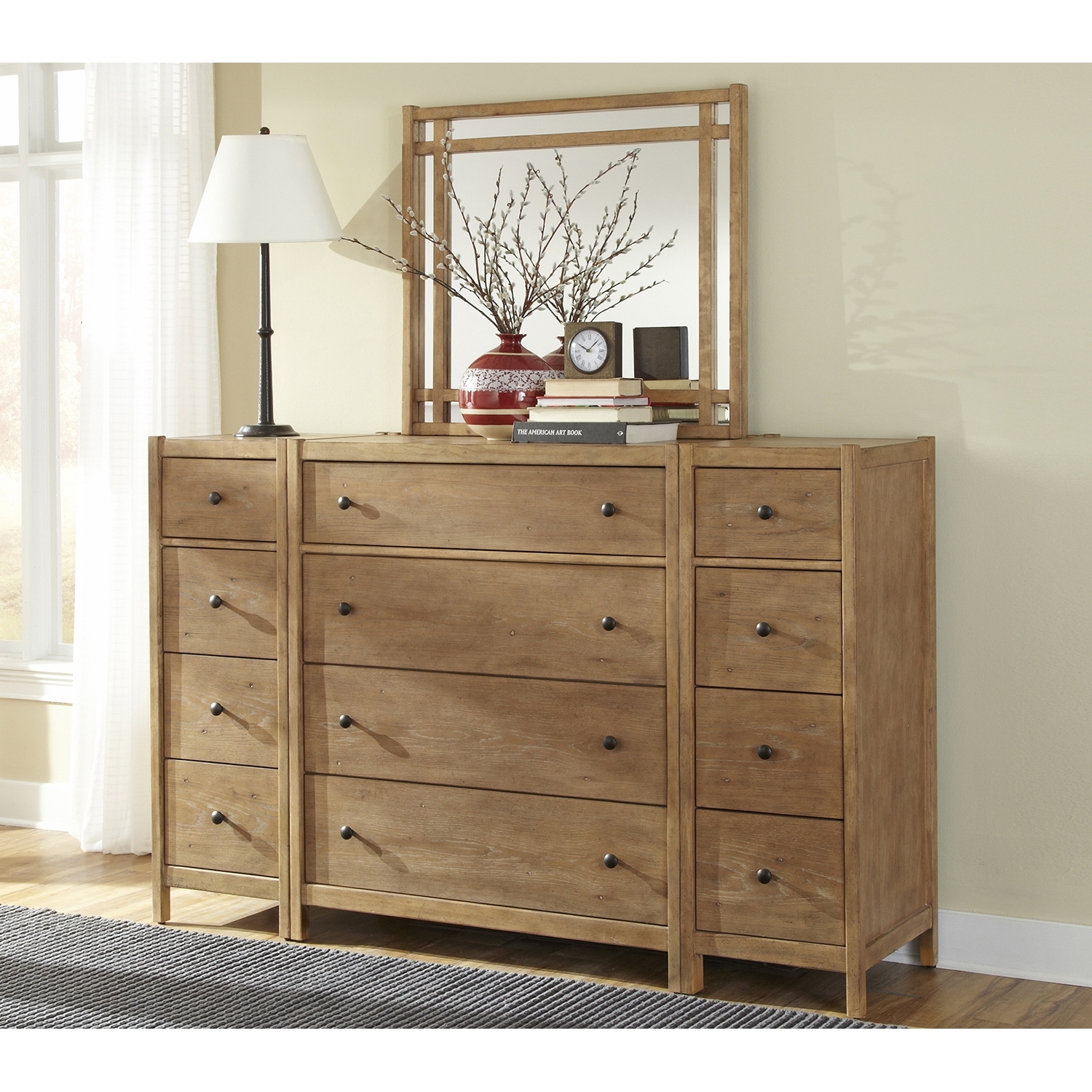 Natural Elements 4 Drawers Chest in Soft Driftwood with Off-White Glaze - AW-1000-140