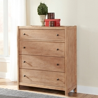 Natural Elements 4 Drawers Chest in Soft Driftwood with Off-White Glaze
