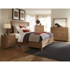 Natural Elements Queen Panel Storage Bed Set in Soft Driftwood with Off-White Glaze - AW-1000-50PBS-SET