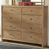 Natural Elements 8-Drawer Dresser in Soft Driftwood with Off-White Glaze