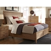 Natural Elements Queen Panel Bed in Soft Driftwood with Off-White Glaze - AW-1000-50PB