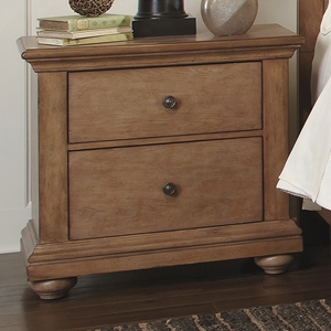 Pathways 2-Drawer Nightstand in Sandstone
