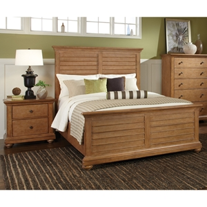 Pathways Queen Panel Bedroom Set in Sandstone