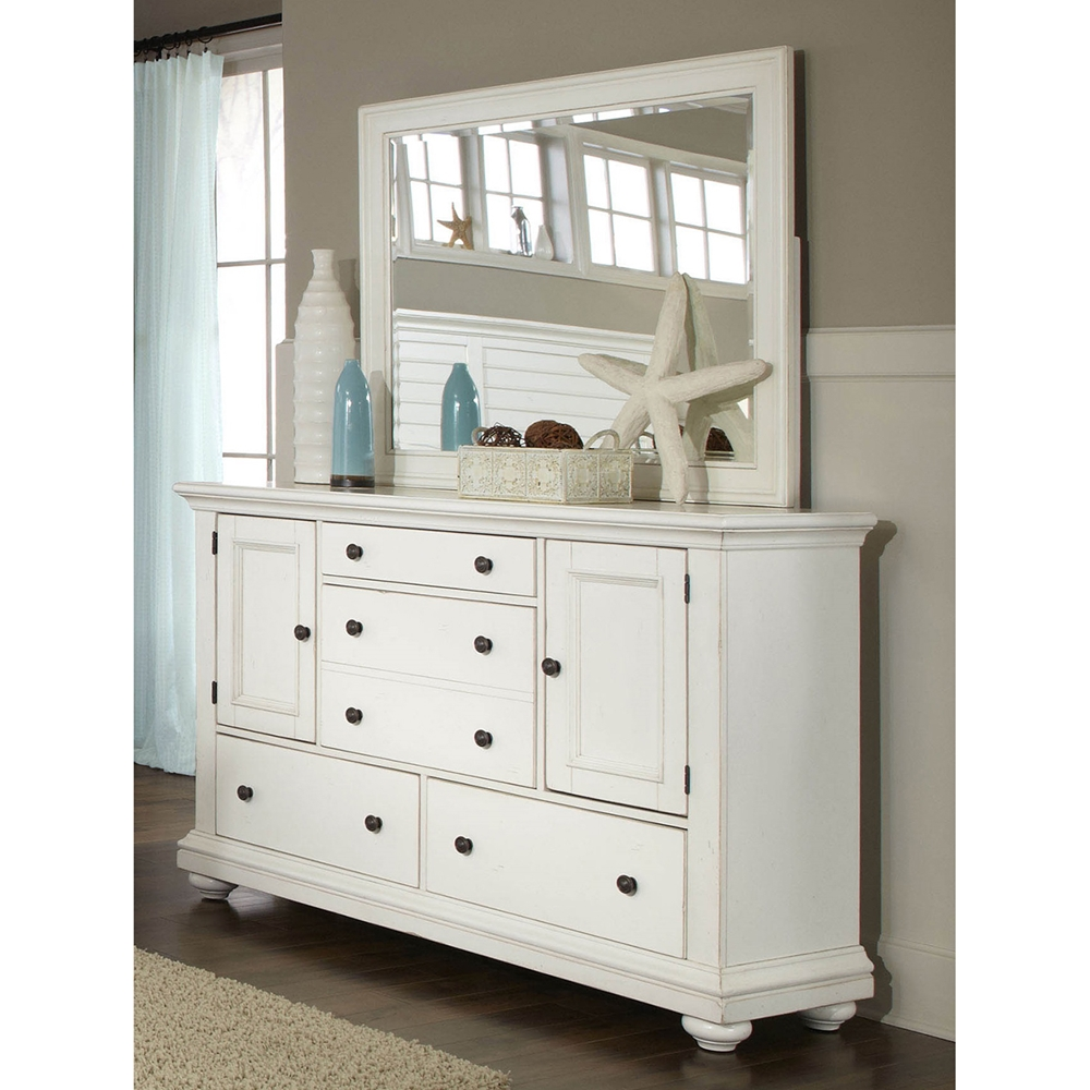 Pathways King Panel Bedroom Set In Antique White Dcg Stores