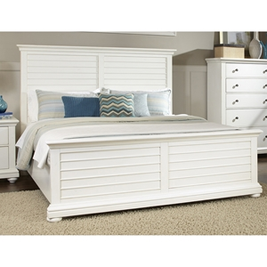 Pathways King Panel Bed in Antique White
