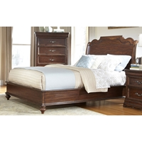 Signature King Sleigh Bed in Rich Dark Brown