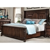High Society King Panel Bed in Walnut - AW-8600-66PAN