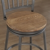 Filmore Swivel Counter Stool - Slate Gray Frame, Golden Oak Seat - AW-B1-101-25W