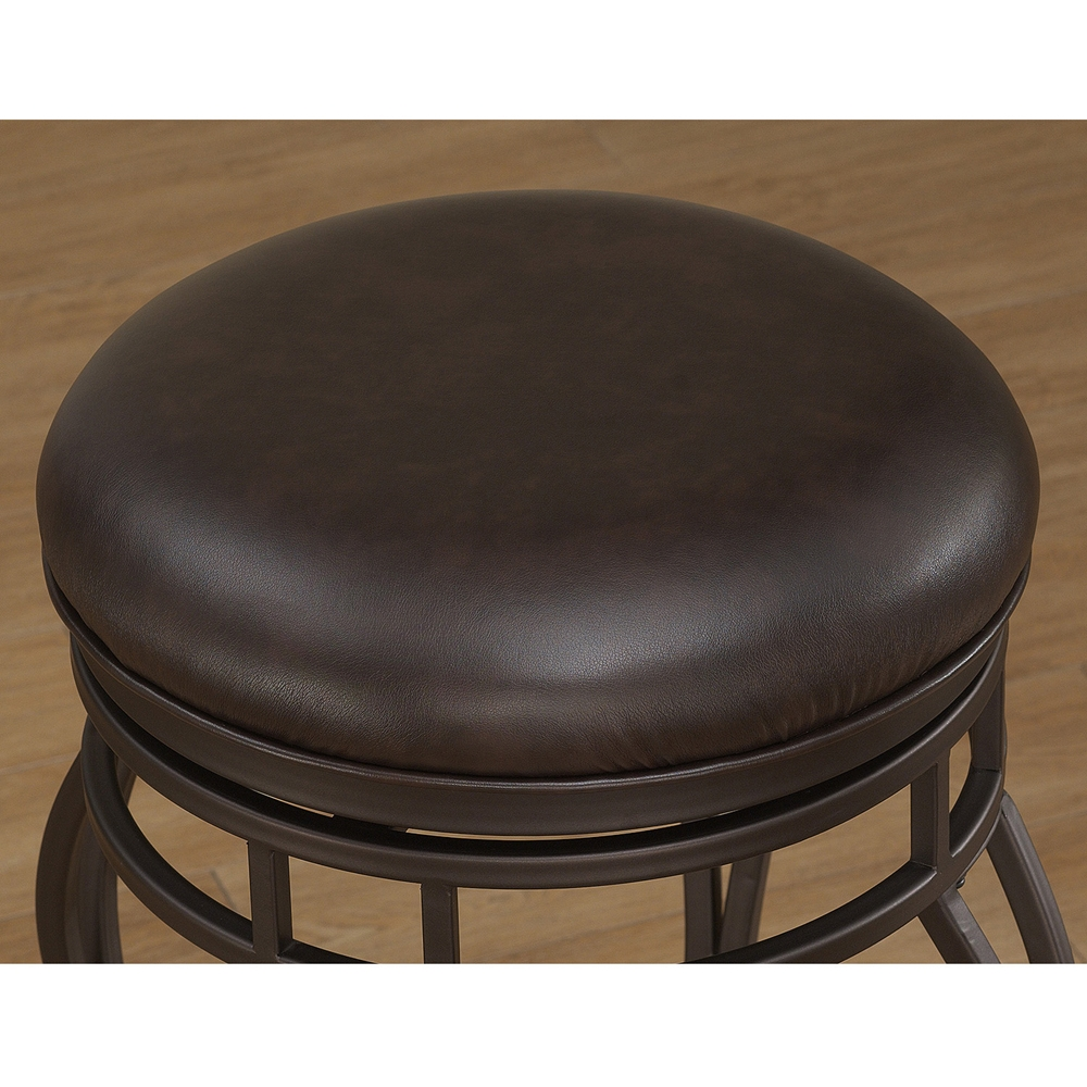 Villa Backless Counter Stool Taupe Gray Russet Brown