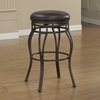 Pleasing Villa Backless Counter Stool Taupe Gray Russet Brown Bonded Leather Gmtry Best Dining Table And Chair Ideas Images Gmtryco