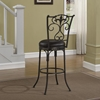 Accadia Swivel Counter Stool - Taupe Gray Frame, Brown Bonded Leather - AW-B1-152-26L