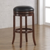 Stella Backless Tall Bar Stool - Medium Walnut, Java Bonded Leather - AW-B2-200-34L