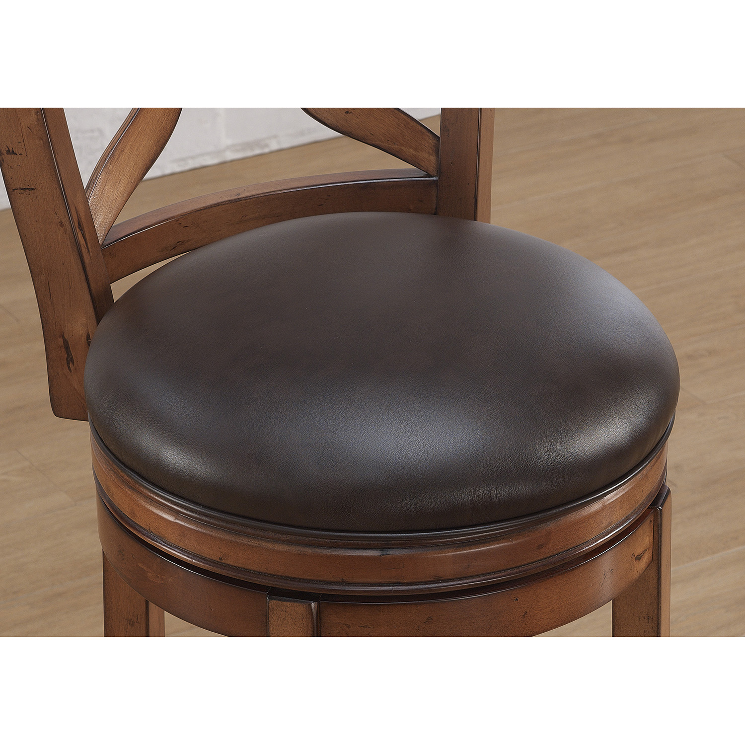 Provence Swivel Counter Stool - Light Oak, Bourbon Bonded Leather - AW-B2-201-26L