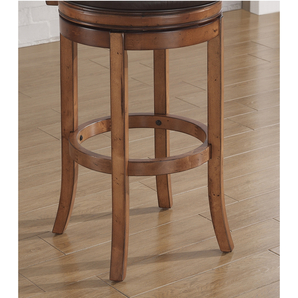 Provence Swivel Bar Stool Light Oak Bourbon Bonded