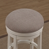 Aversa Backless Tall Bar Stool - Antique White, Light Brown Fabric - AW-B2-204-34F