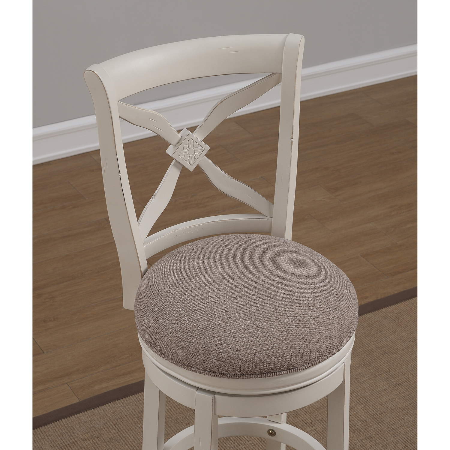 ... Accera Swivel Tall Bar Stool - Antique White Light Brown Fabric - AW-B2 & Accera Swivel Tall Bar Stool - Antique White Light Brown Fabric ... islam-shia.org