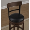 Taranto Swivel Counter Stool - Washed Brown, Black Bonded Leather - AW-B2-208-26L