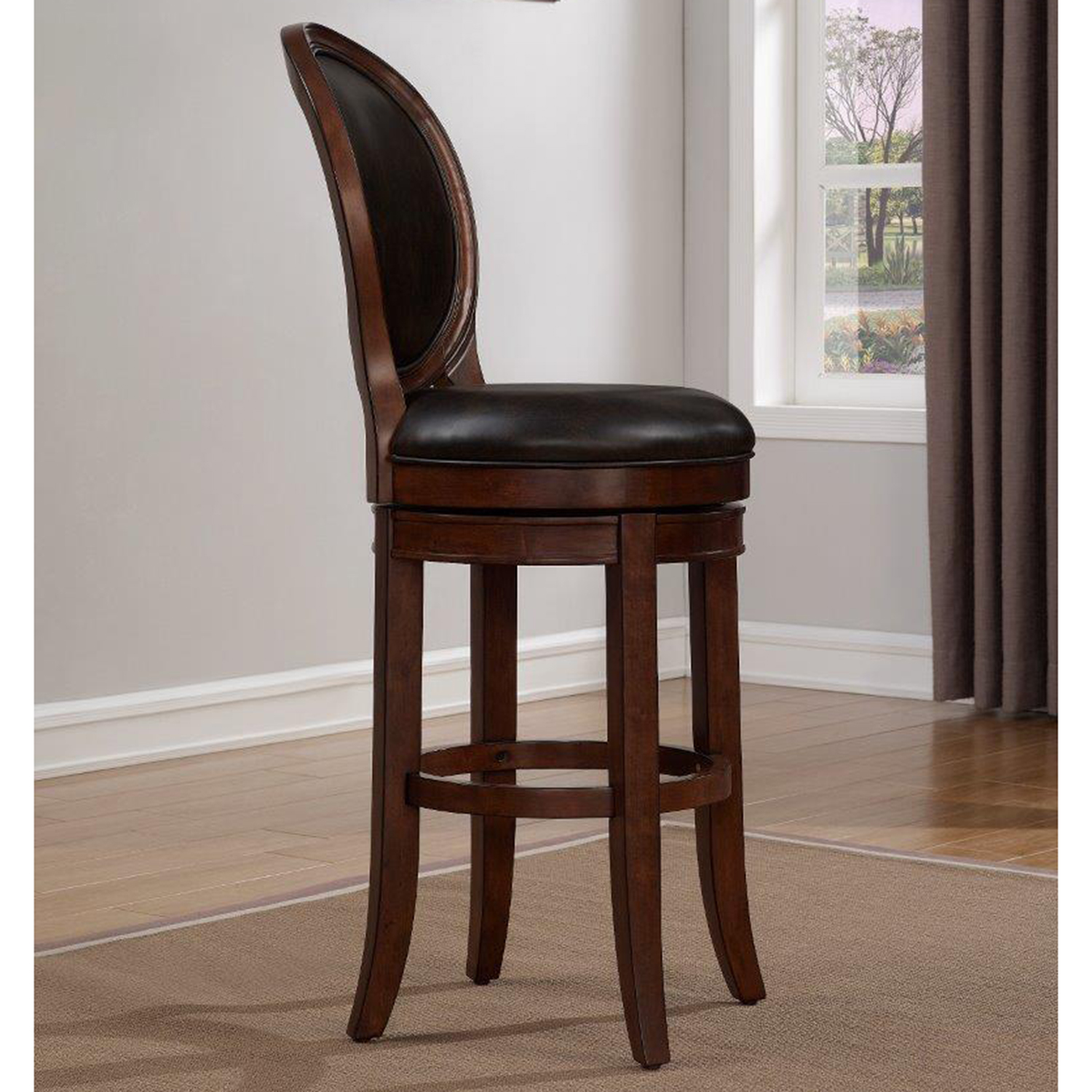 Salerno Swivel Counter Stool Cherry Roast Bonded