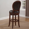 Salerno Swivel Bar Stool - Cherry, Roast Bonded Leather - AW-B2-250-30L