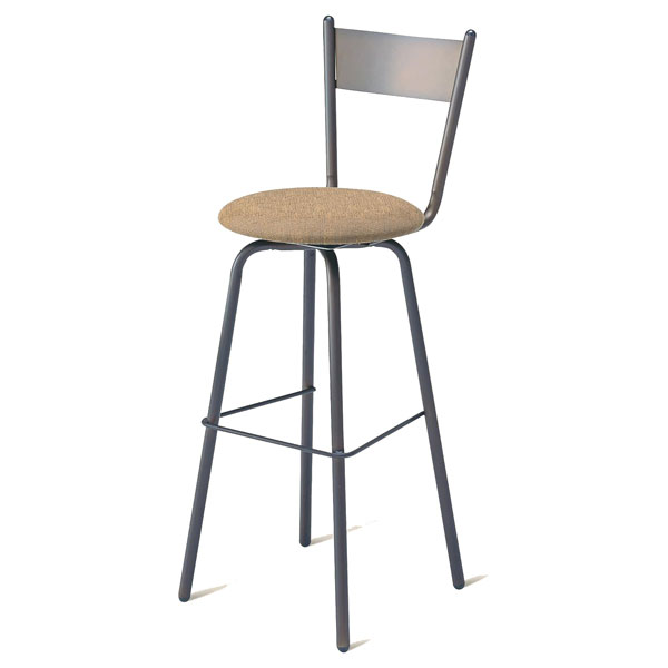 Crystal Swivel Stool with Tapered Back - AMIS-40487