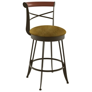 Historian 30 Bar Stool - Swivel, Memory Return, Wood Accent