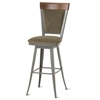 Eleanor Swivel Back Stool with Wood Back - AMIS-41410