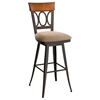 Cindy Swivel Stool with Upholstered Seat - AMIS-41417