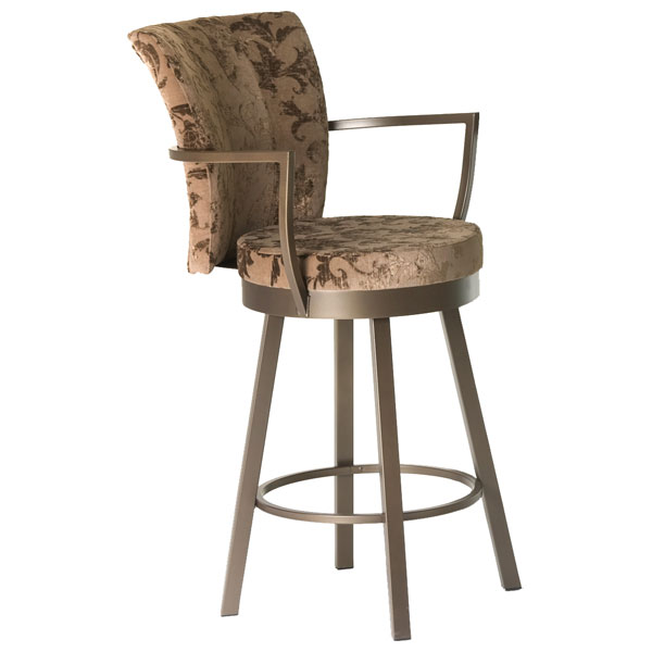 Cardin Modern Swivel Stool with Armrests - AMIS-41430