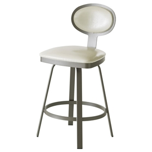 Maxim Modern Steel Framed Swivel Stool
