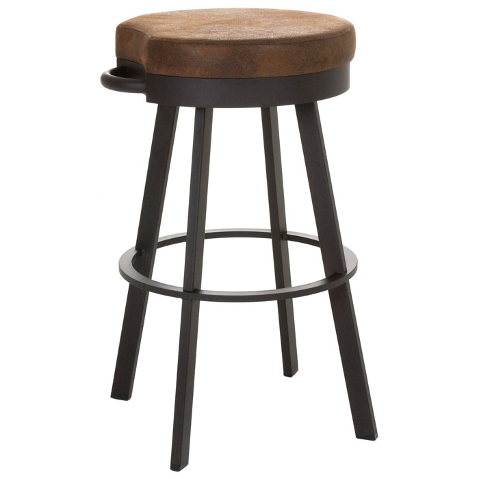 Bryce  extra tall bar stool swivel seat backless