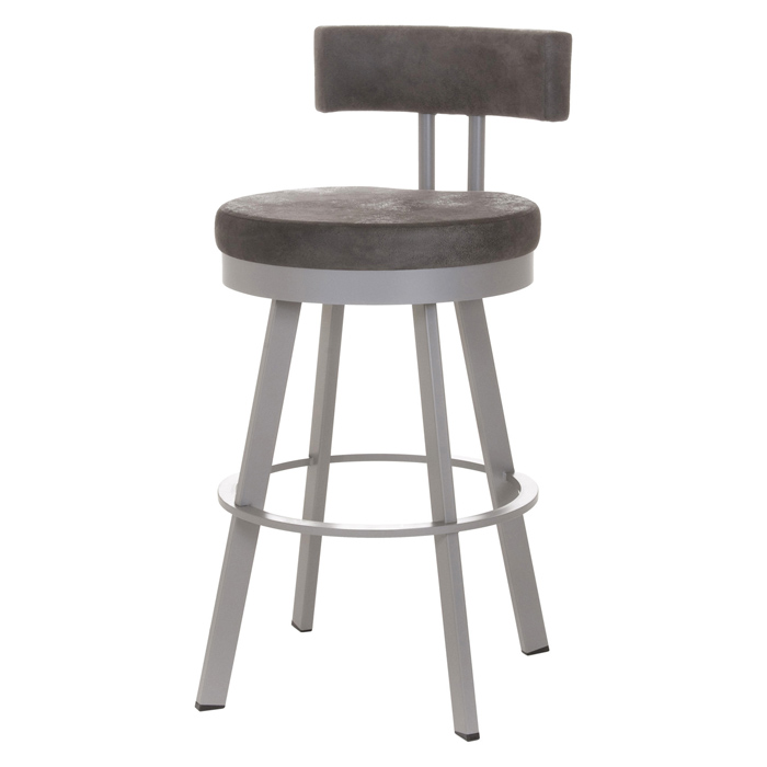 Barry 26 Counter Stool Swivel Cushioned Seat Backrest Amis