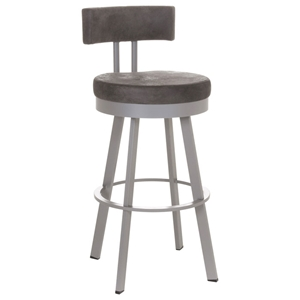 Barry 34%27%27 Extra Tall Bar Stool - Swivel, Cushioned Seat & Backrest
