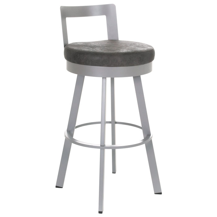 Blake 34'' Extra Tall Bar Stool - Swivel, Low Backrest - AMIS-41446-34