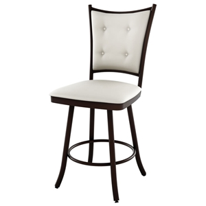 Paula 30%27%27 Bar Stool - Swivel, Button-Tufted