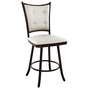 Paula 34%27%27 Extra Tall Bar Stool - Swivel, Button-Tufted