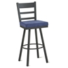 Owen Swivel Stool with Ladder Back - AMIS-41454