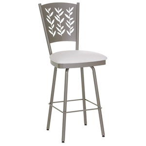 Mimosa 30%27%27 Bar Stool - Swivel, Curved Back, Cut-Out Accents
