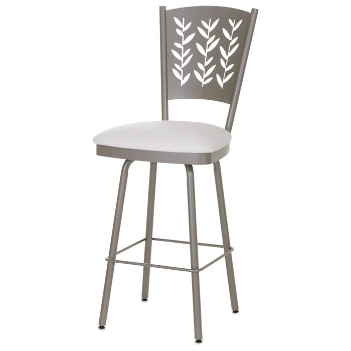Mimosa 26'' Counter Stool - Swivel, Curved Back, Cut-Out Accents - AMIS-41457-26