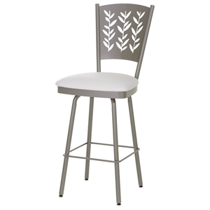Mimosa 26%27%27 Counter Stool - Swivel, Curved Back, Cut-Out Accents