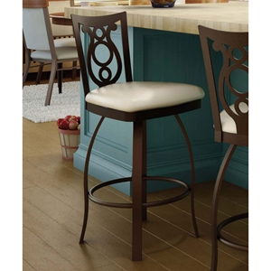 Harp 26%27%27 Counter Stool - Swivel, Steel, Ring Footrest