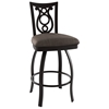 Harp 30'' Bar Stool - Swivel, Steel, Ring Footrest - AMIS-41458-30