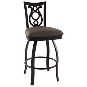 Harp 30%27%27 Bar Stool - Swivel, Steel, Ring Footrest