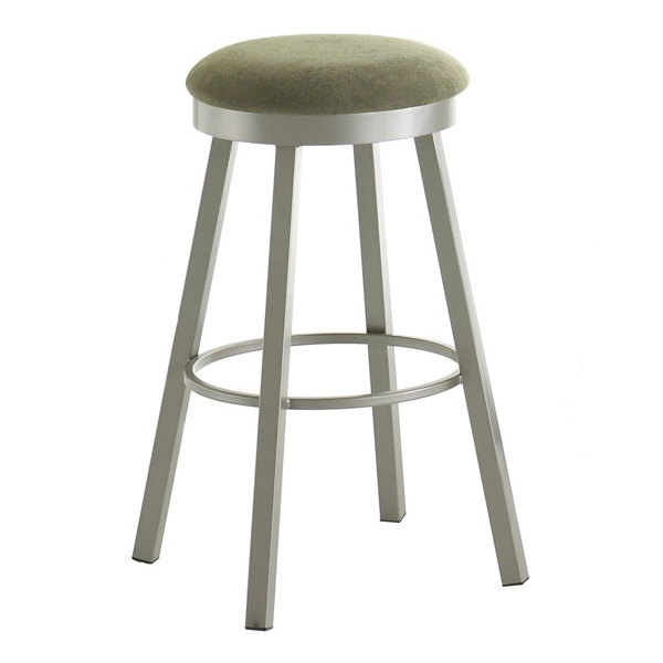 Conner Upholstered Backless Swivel Stool - AMIS-42493