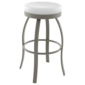 Swan 30 Bar Stool - Swivel Seat, Backless, Steel