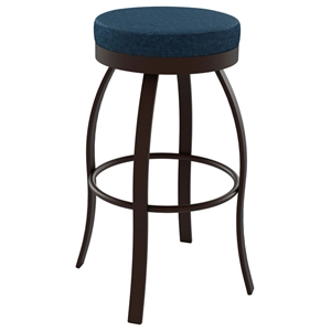 Swan 26%27%27 Counter Stool - Swivel Seat, Backless, Steel